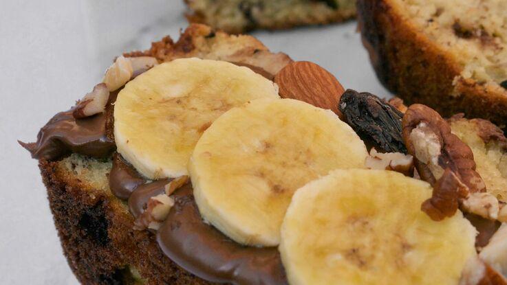 BANANA BREAD με σοκολάτα, χωρίς ζάχαρη